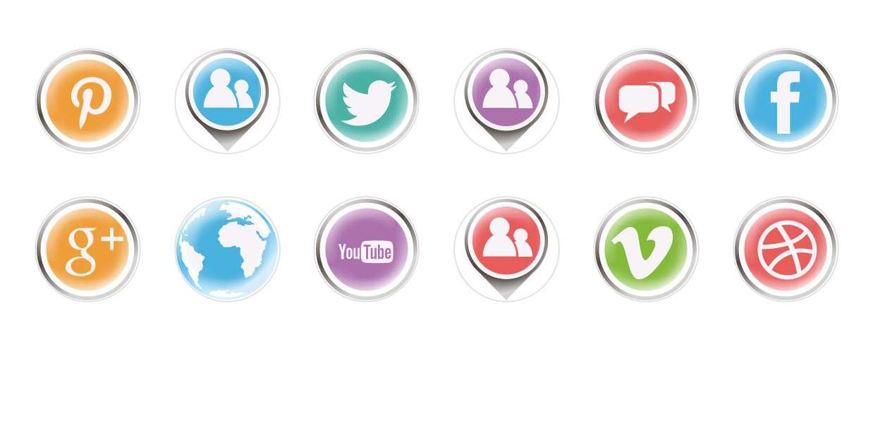 Handmade Round Domed Czech Glass Cabochons Social Networks for $6.93 from Czech Beads Exclusive
