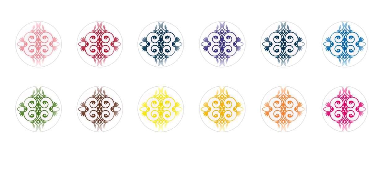 Runde Kuppel Tschechische Glas-Cabochons Muster 28 für $ 6.93 von Czech Beads Exclusive
