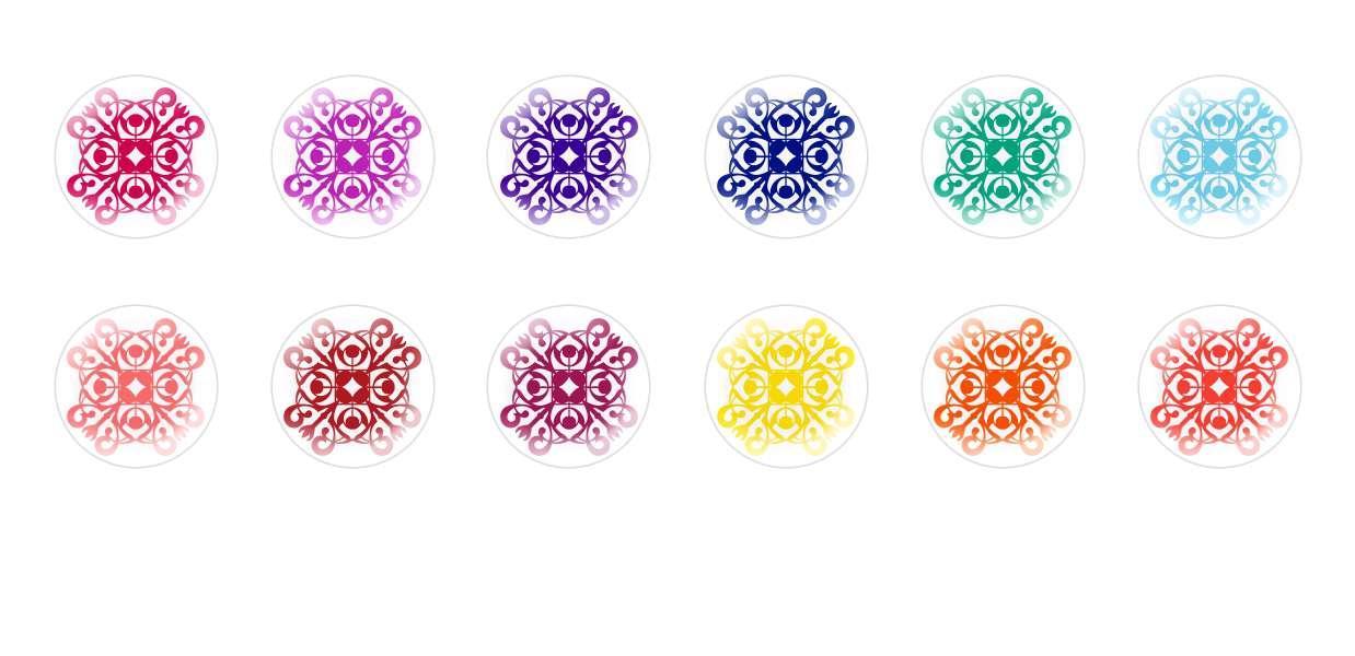 Runde Kuppel Tschechische Glas-Cabochons Muster 34 für $ 6.93 von Czech Beads Exclusive
