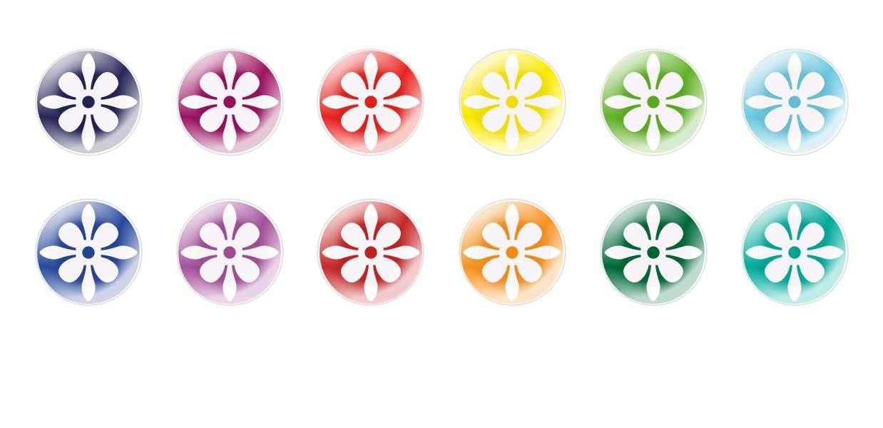 Handmade Round Domed Czech Glass Cabochons Patterns 71 for $7.29 from Czech Beads Exclusive