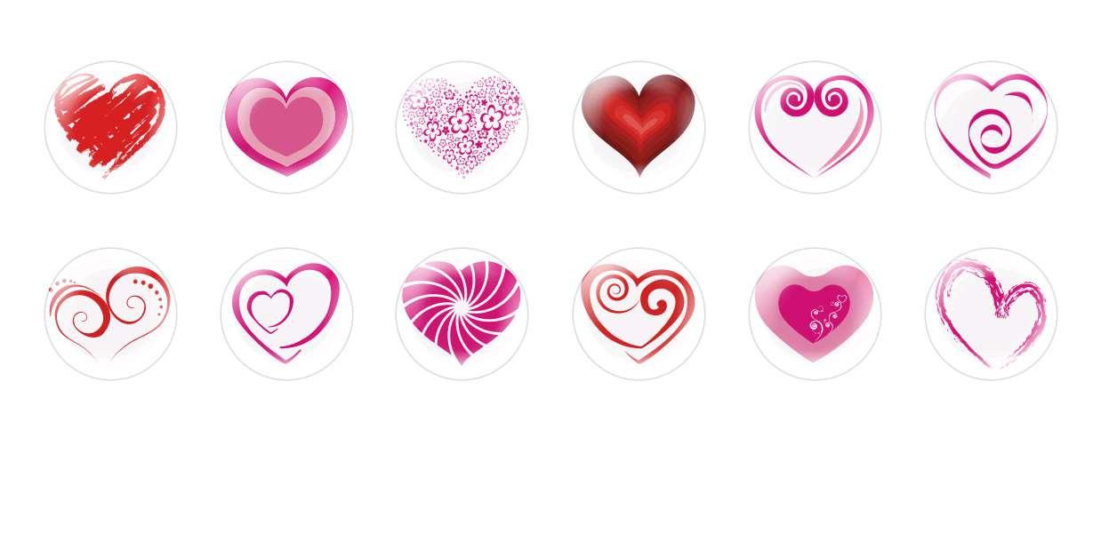Handmade Round Domed Czech Glass Cabochons Hearts Valentine 3 for $7.29 from Czech Beads Exclusive