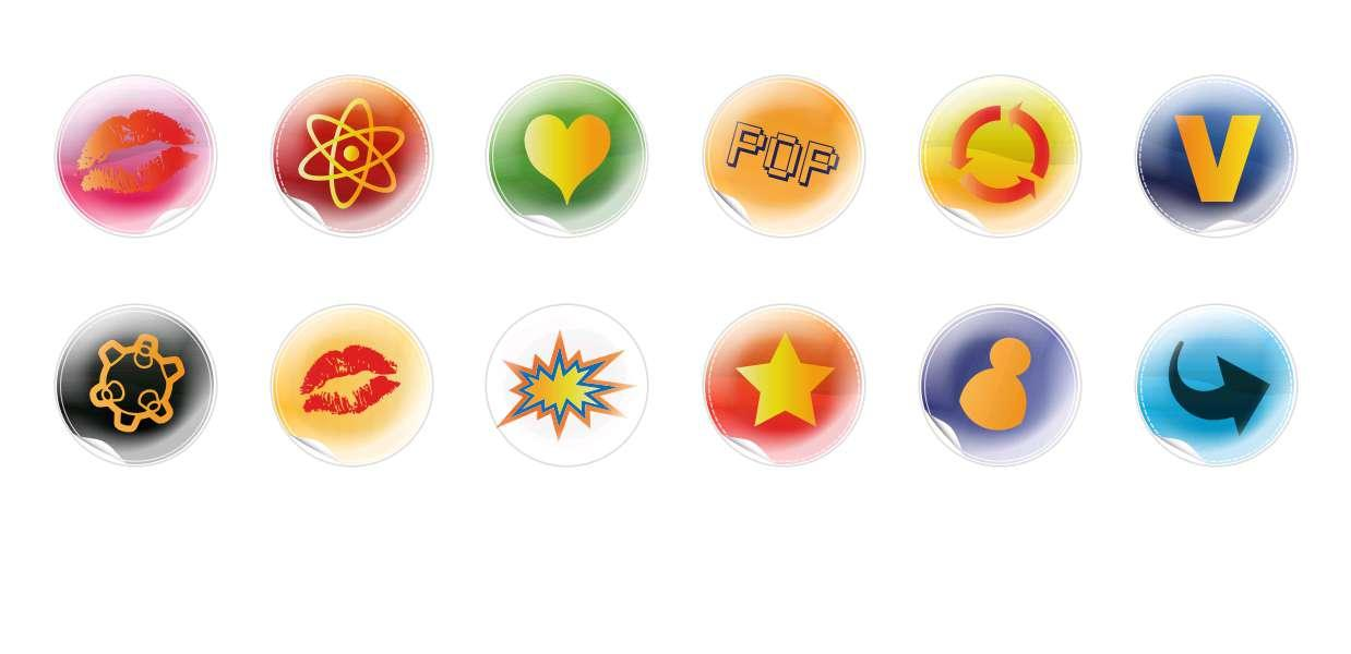 Handmade Round Domed Czech Glass Cabochons Symbols 2 for $7.29 from Czech Beads Exclusive