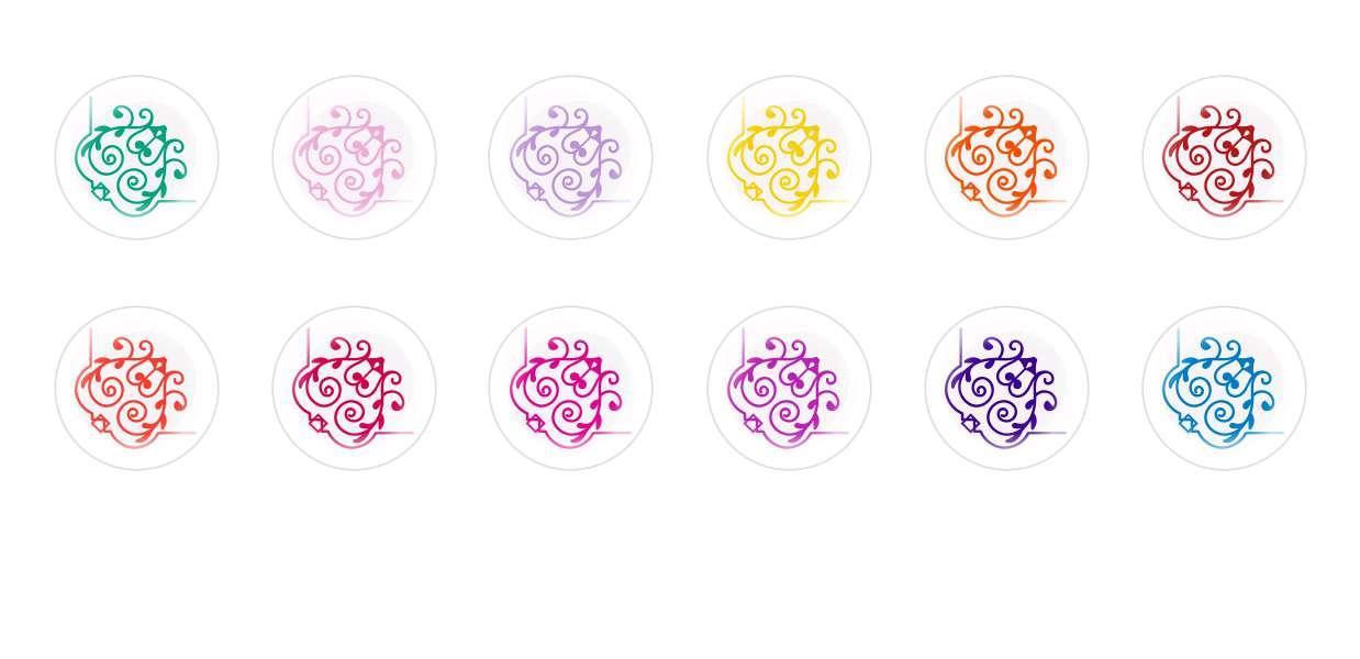 Runde Kuppel Tschechische Glas-Cabochons Muster 31 für $ 6.93 von Czech Beads Exclusive