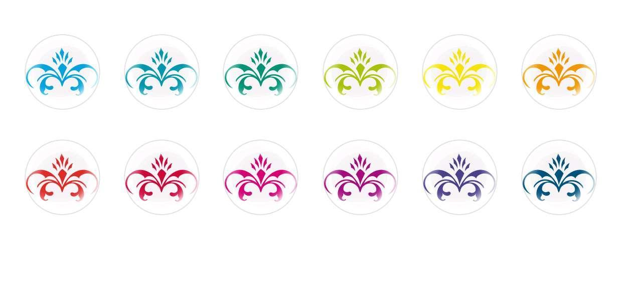 Runde Kuppel Tschechische Glas-Cabochons Muster 10 für $ 6.93 von Czech Beads Exclusive