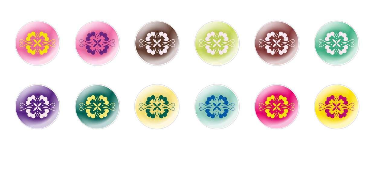 A Mano Rotonda Con Cupola Di Vetro Ceco Cabochon Modelli 158 per $ 6.93 da Czech Beads Exclusive