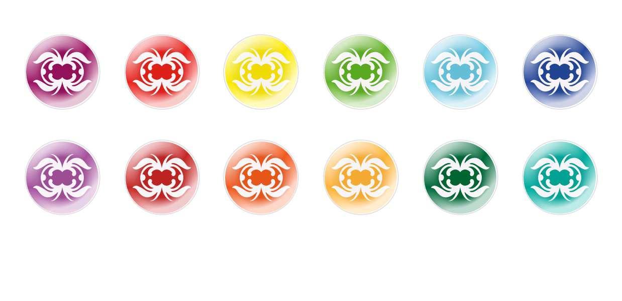 Runde Kuppel Tschechische Glas-Cabochons Muster 65 für $ 7.29 von Czech Beads Exclusive