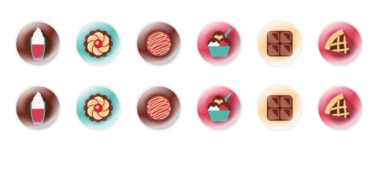 Ручной Работы Кабошоны Летние Десерты 2 для $ 7.29 из Czech Beads Exclusive