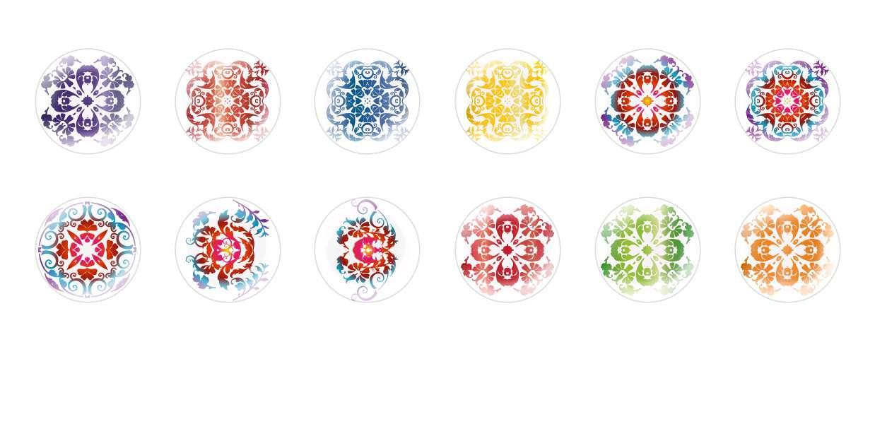 Handmade Round Domed Czech Glass Cabochons Flowers 21 for $7.29 from Czech Beads Exclusive