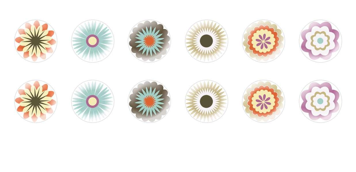 Handmade Round Domed Czech Glass Cabochons Retro Floral Ornaments 1 for $7.29 from Czech Beads Exclusive