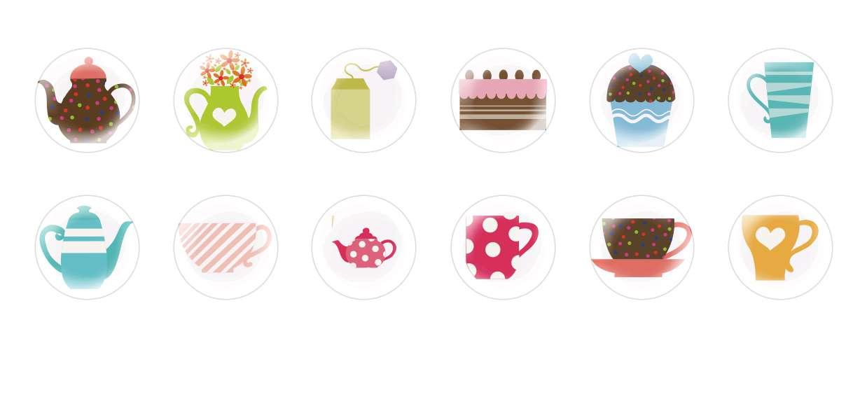 Handmade Round Domed Czech Glass Cabochons Tea Party for $7.29 from Czech Beads Exclusive