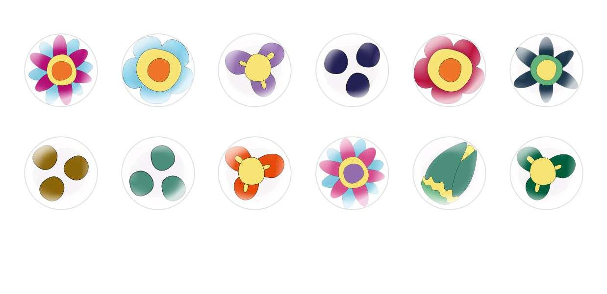 Runde Kuppel Tschechische Glas-Cabochons Blumen 79 für $ 6.93 von Czech Beads Exclusive