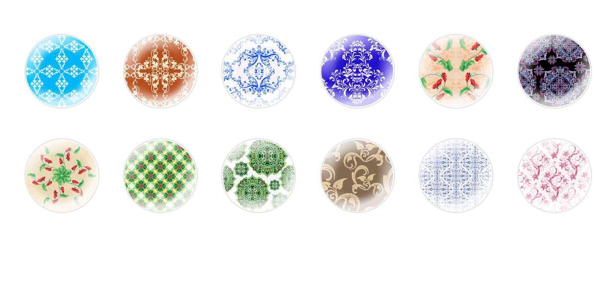 Handmade Round Domed Czech Glass Cabochons Other Patterns 3 for $6.93 from Czech Beads Exclusive