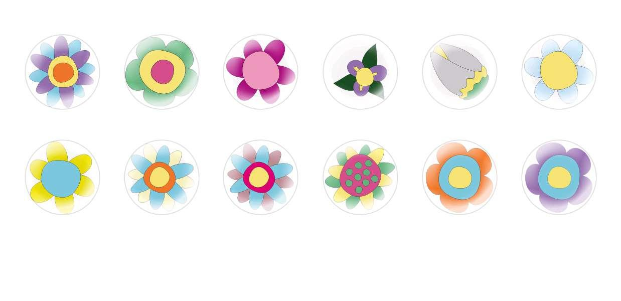 Handmade Round Domed Czech Glass Cabochons Flowers 94 for $7.29 from Czech Beads Exclusive