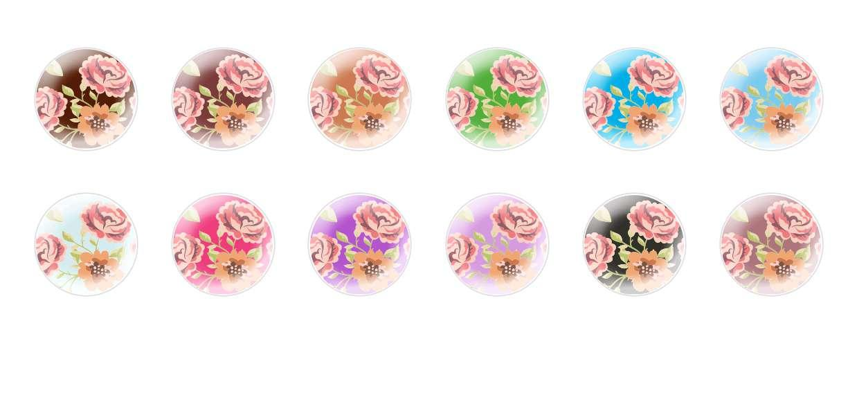 Handmade Round Domed Czech Glass Cabochons Patterns 135 for $7.29 from Czech Beads Exclusive
