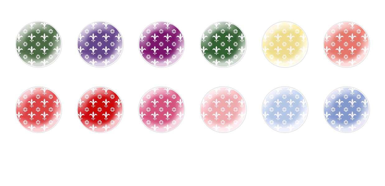 Runde Kuppel Tschechische Glas-Cabochons Muster 116 für $ 6.93 von Czech Beads Exclusive