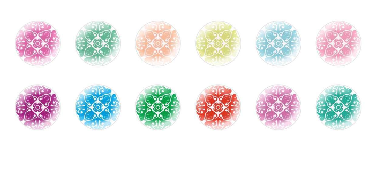 Runde Kuppel Tschechische Glas-Cabochons Muster 141 für $ 6.93 von Czech Beads Exclusive