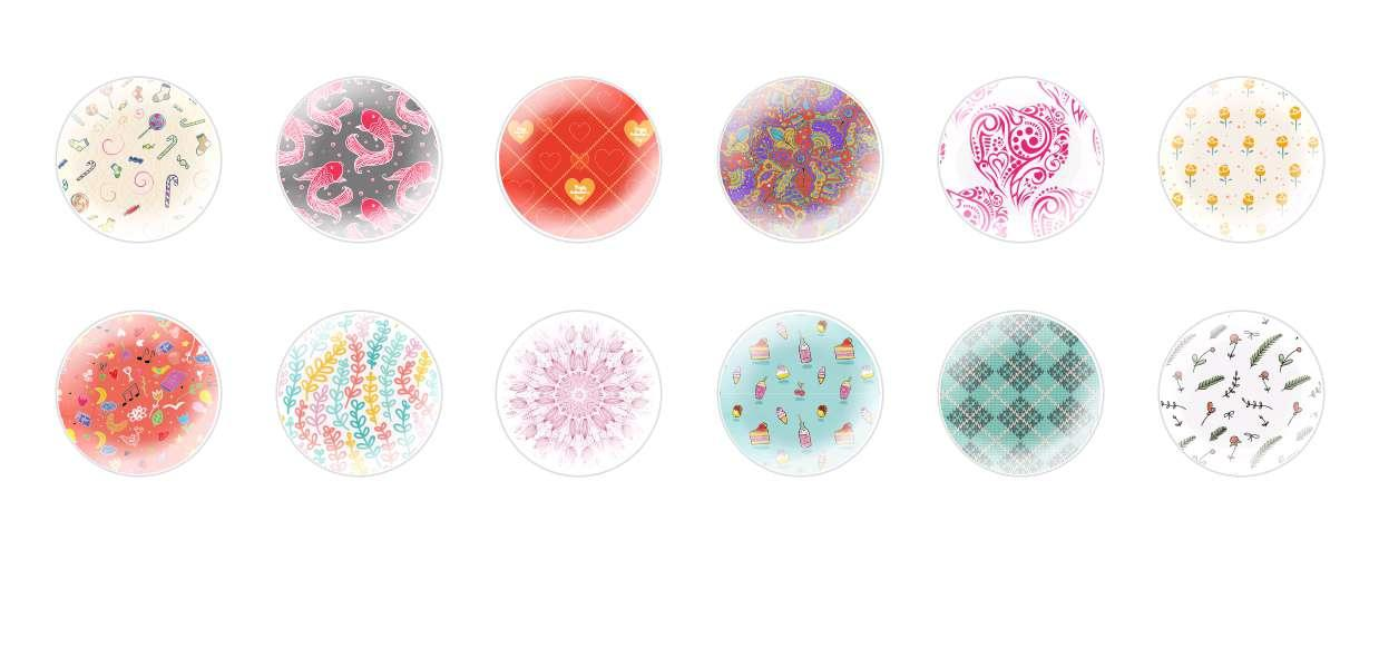 Handmade Round Domed Czech Glass Cabochons Other Patterns 4 for $7.29 from Czech Beads Exclusive