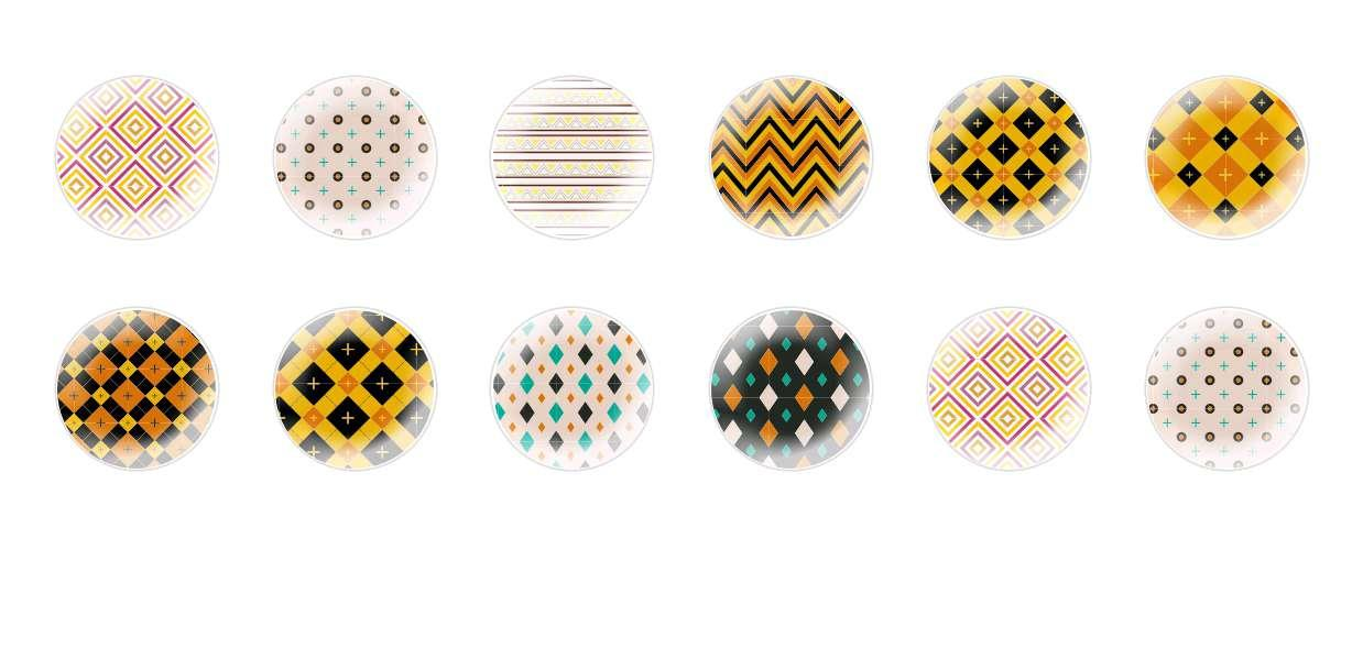 Handmade Round Domed Czech Glass Cabochons Mosaic Patterns 2 for $6.93 from Czech Beads Exclusive