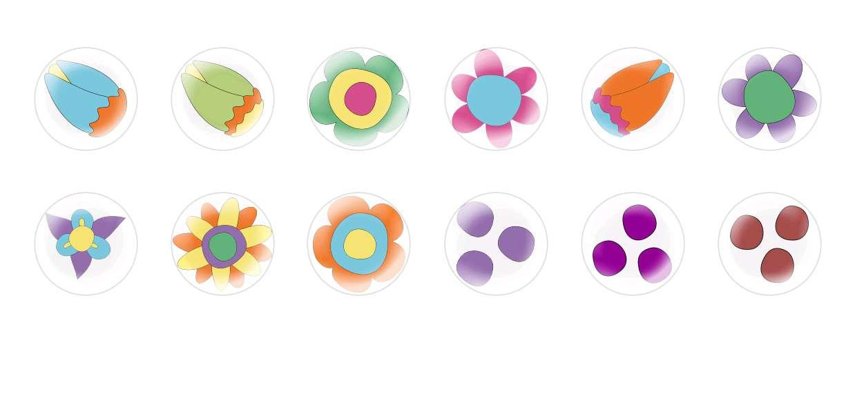 Handmade Round Domed Czech Glass Cabochons Flowers 81 for $6.93 from Czech Beads Exclusive
