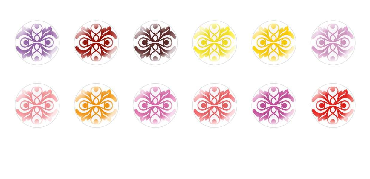 Handmade Round Domed Czech Glass Cabochons Patterns 57 for $6.93 from Czech Beads Exclusive