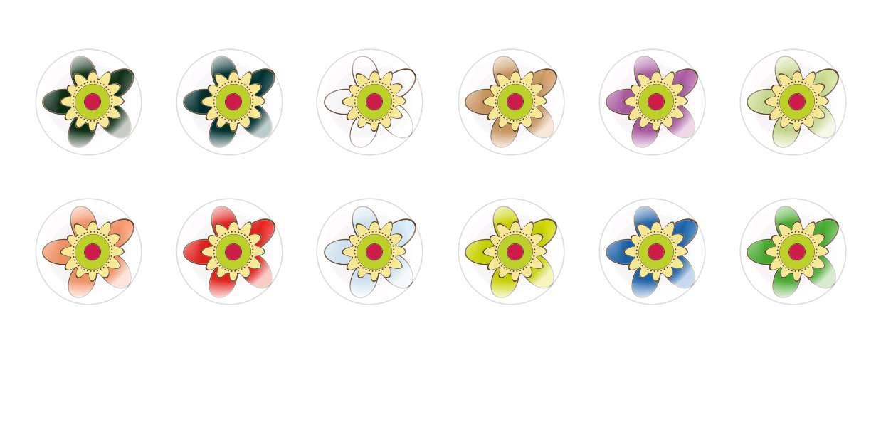 Handmade Round Domed Czech Glass Cabochons Flowers 60 for $6.93 from Czech Beads Exclusive