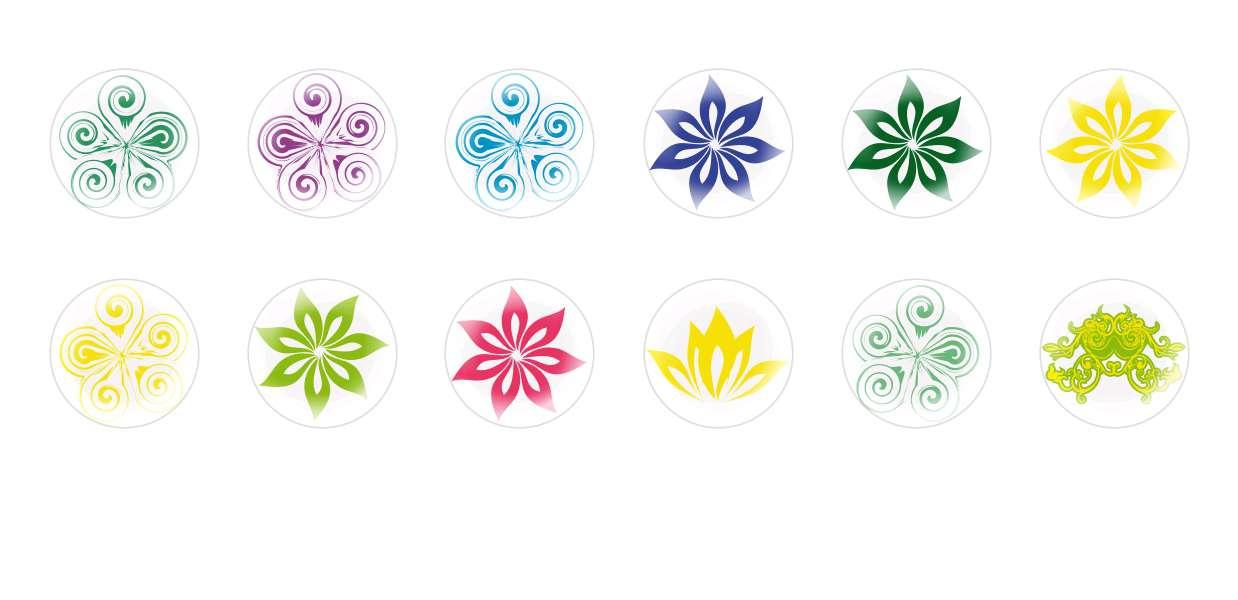 Handmade Round Domed Czech Glass Cabochons Flowers 26 for $7.29 from Czech Beads Exclusive