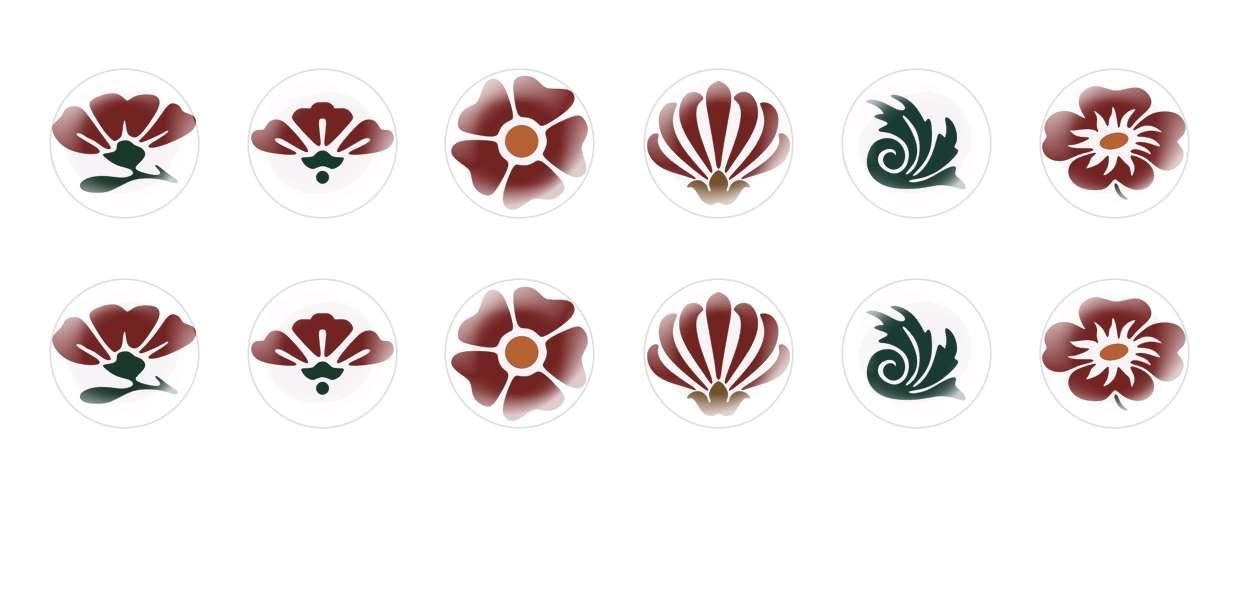 A Mano Rotonda Con Cupola Di Vetro Ceco Cabochon Fiori 2 per $ 7.29 da Czech Beads Exclusive
