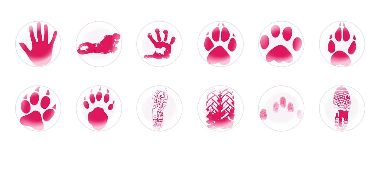 Handmade Round Domed Czech Glass Cabochons Footprints for $6.93 from Czech Beads Exclusive