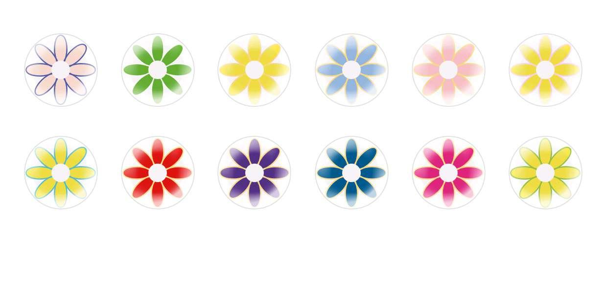 Handmade Round Domed Czech Glass Cabochons Flowers 93 for $6.93 from Czech Beads Exclusive