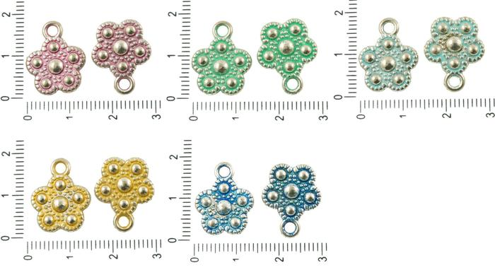 10pcs antique silver tone patina wash flower flat boho pendants 10pcs antique silver tone patina wash flower flat boho pendants charms bohemian metal findings 14mm x aloadofball Gallery