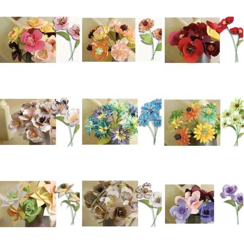 Diy kits paper flowers origami scrapbooking easy craft diy kit of paper flowers origami scrapbooking easy craft diy kit of 5 five floral arrangements handmade mightylinksfo