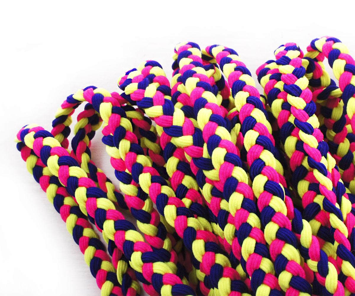 2yrd 1 8m Neon Uv Dark Blue Sapphire Pink Yellow Elastic Cord