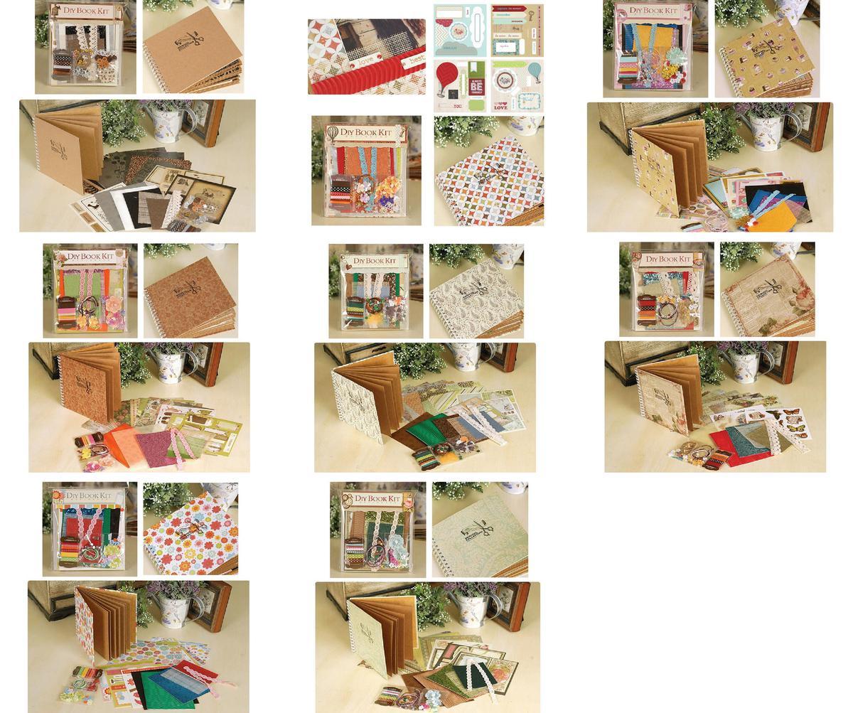 Diy Kits 6inch Vintage Scrapbook Kit For Family Friend Kids Diy