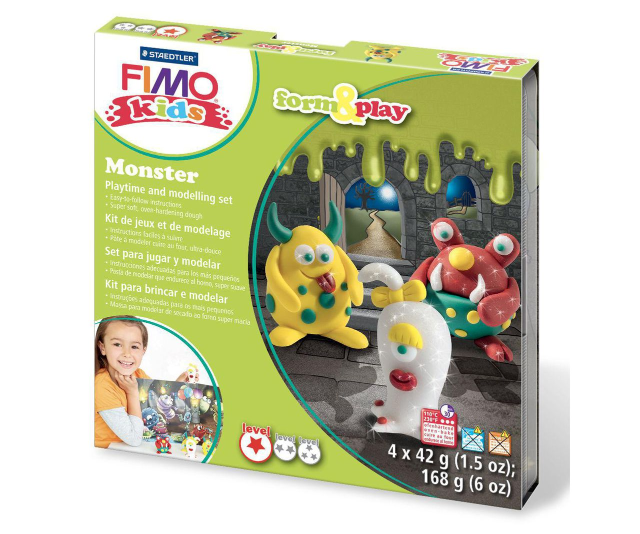 Fimo Kids Form Play Monsters Set 8034 11 Lz For Sale And Wholesale Czechbeadsexclusive