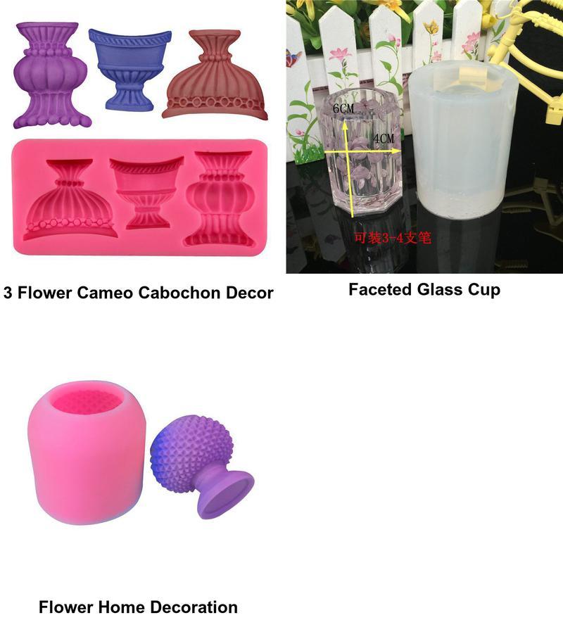 Vase 3d Silicone Resin Wax Mold Gypsum