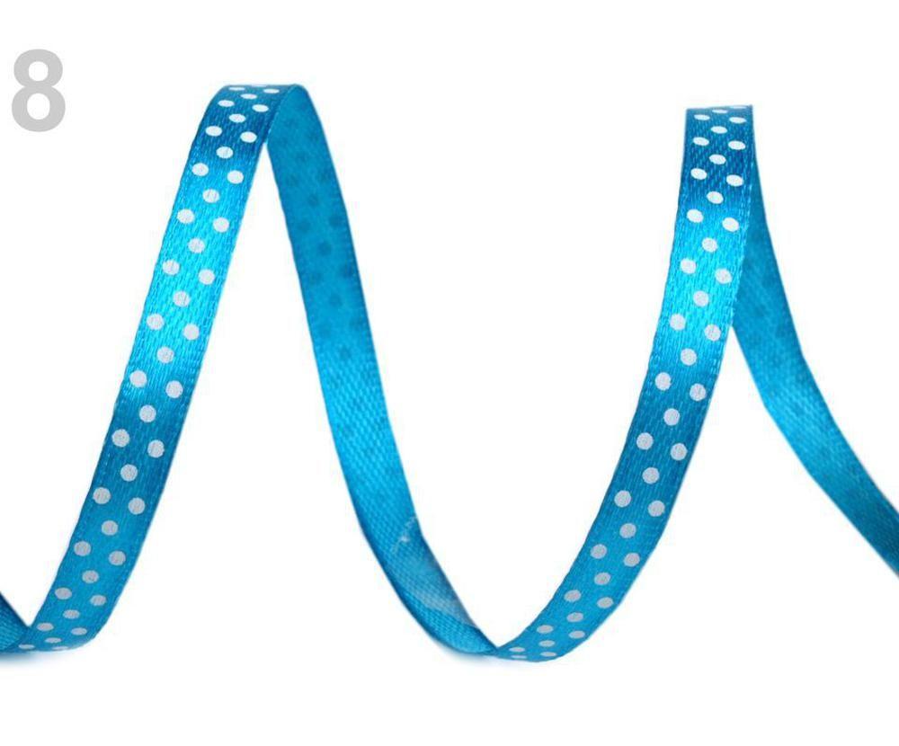 With Haberdashery 20m Satin Ribbon Width 6mm Polka Dots 2nd Quantity Ribbons