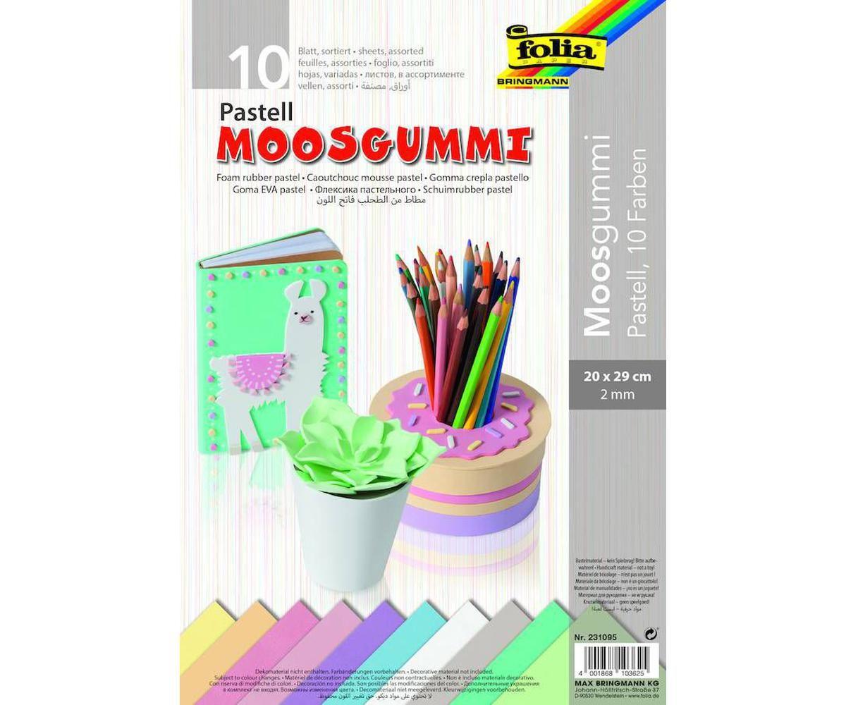 29 x 40 cm 10 Farben Folia Moosgummi