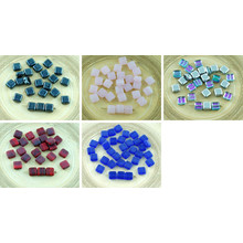 30pcs Flat Square Tile One Hole Czech Glass Beads 6mm for $2.25 from Czech Beads Exclusive
