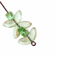Large Green Clear Angel Wings Beads Czech Glass Beads Spacer Bohemian 14mm x 6mm 12pcs for $2.28 from Czech Beads Exclusive