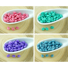20g Silk Matte Superduo Czech Glass Seed Beads Two Hole Super Duo 2.5mm X 5mm for $5.16 from Czech Beads Exclusive