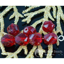 Ruby Red Crystal Czech Glass Twisted Cut Spiral Faceted Round Beads Fire Polished 8mm 18pcs for $2.3 from Czech Beads Exclusive