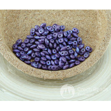 NEW FINISH 20g Matte NEBULA Purple Violet SUPERDUO Czech Glass Seed Beads Two Hole Super Duo 2.5mm x 5mm for $4.55 from Czech Beads Exclusive