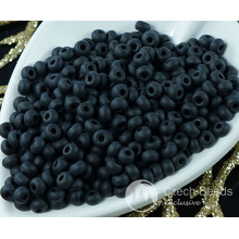 10g Matte Opaque Jet Black Halloween 7/0 Czech Glass Round Seed Beads 4mm Approximately 200pcs for $3.2 from Czech Beads Exclusive