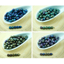 100pcs Matte Rainbow Iris Round Faceted Fire Polished Czech Glass Beads Small Spacer 4mm for $2.52 from Czech Beads Exclusive