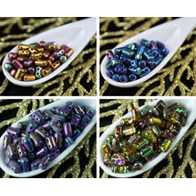 20g Rainbow Rulla Matubo Czech Glass Two Hole Seed Beads for $3.72 from Czech Beads Exclusive