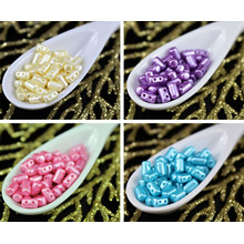 20g Pastel Pearl Rulla Matubo Czech Glass Two Hole Seed Beads 5mm for $3.72 from Czech Beads Exclusive