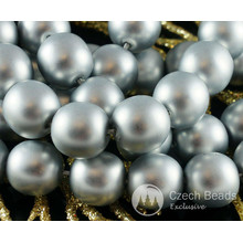 Silver Pearl Czech Glass Round Beads Glass Imitation Pearls 9mm 24pcs for $2.9 from Czech Beads Exclusive