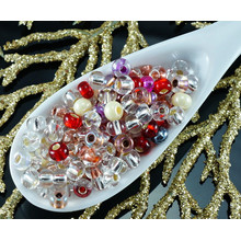 20g Mix Crystal Silver Lined Red Czech Glass Round Seed Beads 6/0 PRECIOSA Pearls Rocaille Spacer 4mm for $2.39 from Czech Beads Exclusive