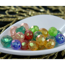 Matte Multicolor Spring Mix Czech Glass Fire Polished Faceted Round Beads 10mm, 8mm 20g Approximately 32pcs for $3.08 from Czech Beads Exclusive