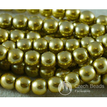 Gold Pearl Czech Glass Round Beads Glass Imitation Pearls 5mm 60pcs for $2.98 from Czech Beads Exclusive